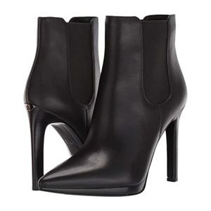 Michael Kors Brielle Black Leather Booties NWT